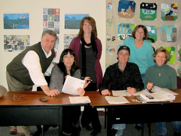 At their January meeting, United Arts Appeal of Chautauqua County board members (from left) Rick Davis, Elizabeth Bush, Shane Hawkins, Jeff Erickson, Lissa VanDewark and Sally Ulrich sent letters to local businesses and selected individuals, requesting their support for the arts in 2013.