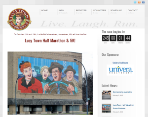 More information on the Lucytown Marathon, including how to register, can be found at http://www.lucyrace.com