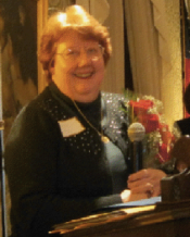 Marcia C. Bliss, upon receiving her Woman of the Year award on March 18, 2013.