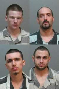 The four suspects in the April 17 Carroll double homicide: (clockwise from upper left) Ricky Knickerbocker, Davide Coggins, Joshua McCormick and Steven Todd.